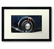"""Pierce Blue - $12,000 Tire"" Framed Print"