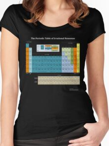 The Periodic Table Of Irrational Nonsense (Dark) Women's Fitted Scoop T-Shirt
