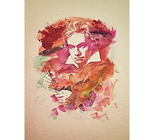 Ludwig van Beethoven Watercolor Remix  Photographic Print
