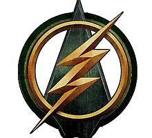 Flash Arrow Crossover Symbol Shirt by gentilj17
