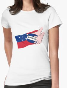Samoa Rugby Flag Womens Fitted T-Shirt