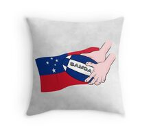 Samoa Rugby Flag Throw Pillow