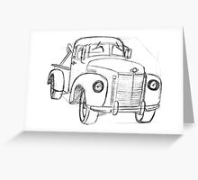 Small town tow truck Greeting Card
