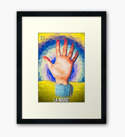 LOTERIA- LA MANO Framed Print