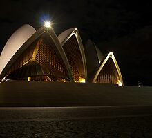 Night front view of the Sydney Opera House by Andrea Rapisarda