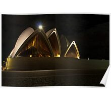 Night front view of the Sydney Opera House Poster