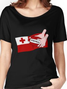 Tonga Rugby Flag Women's Relaxed Fit T-Shirt