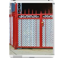 Colorful Fence and Gate iPad Case/Skin