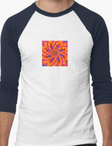 Psychedelic Lotus Men's Baseball ¾ T-Shirt