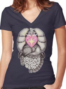 Magical Girl Anatomy Women's Fitted V-Neck T-Shirt
