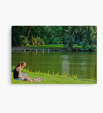 The Lone Reader Canvas Print