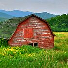 Sinking Barn 2 by Monte Morton