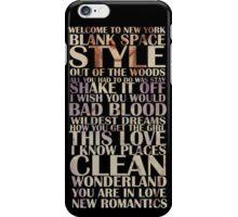 1989 songs! iPhone Case/Skin