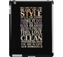 1989 songs! iPad Case/Skin