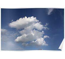 Blue Skies - Esker Beach, Groton, Connecticut Poster