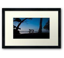 I've saved you a seat_Hill End Framed Print