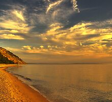 Sunset at Lake Michigan - Sleeping Bear Dunes National Lakeshore by Michael Schaefer