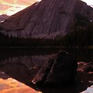 Sunset on Lower Elk Lake - Canadian Rockies, British Columbia by Aaron Minnick