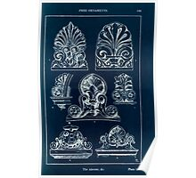 A Handbook Of Ornament With Three Hundred Plates Franz Sales Meyer 1896 0185 Free Ornaments Akroter Inverted Poster
