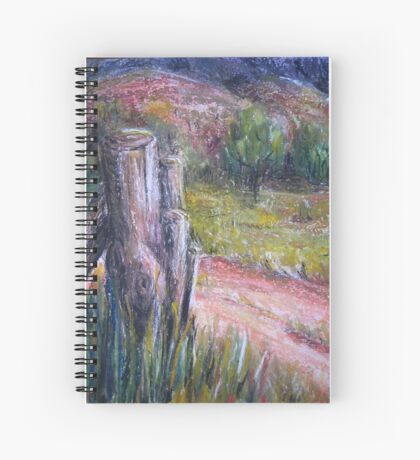 Fence Post in Flinders Ranges  Spiral Notebook