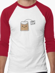 Sassy Tea Puns: Cute-Tea Men's Baseball ¾ T-Shirt