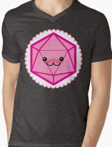 Critically Cute - D20 Kawaii Die Mens V-Neck T-Shirt