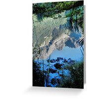 Mirror Lakes #2, New Zealand Greeting Card