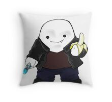 Adipose as the 9th Doctor Throw Pillow