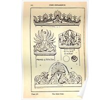 A Handbook Of Ornament With Three Hundred Plates Franz Sales Meyer 1896 0186 Free Ornaments  Stele Crest Poster