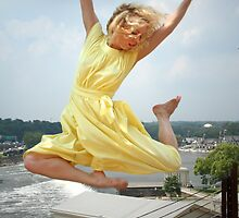 Tammy Leaping the Waterworks by Jeff Holcombe
