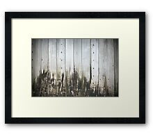 Old wooden background Framed Print
