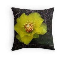 a ditch beauty- YELLOW Throw Pillow