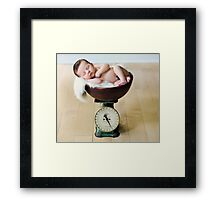 Weighing In... Framed Print