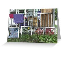 Artistic Clutter Greeting Card
