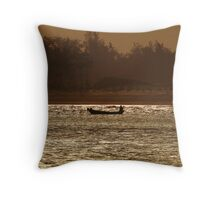 An early morning at the beach. Throw Pillow