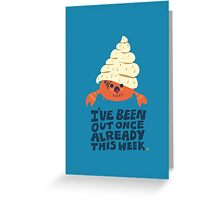 Hermit Crab Greeting Card