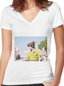 Peter Pan On Soundsational Parade  Women's Fitted V-Neck T-Shirt