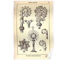 A Handbook Of Ornament With Three Hundred Plates Franz Sales Meyer 1896 0403 Metal Objects Crozier Monstrance Poster