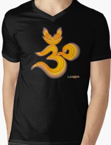 Lucky's Golden Ommmblem Mens V-Neck T-Shirt