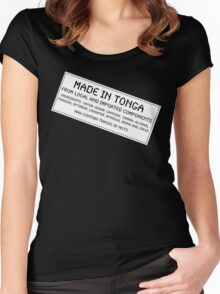 Traces Of Nuts - Tonga, Funny Women's Fitted Scoop T-Shirt