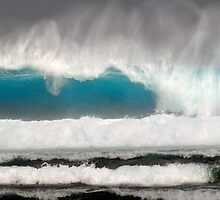Seaspray and Blue Water - Cocos (Keeling) Islands by Karen Willshaw