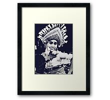 Balinese Dancer - expression of young dancers Framed Print