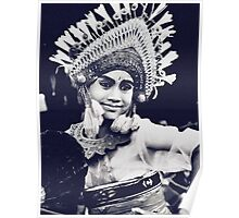 Balinese Dancer - expression of young dancers Poster