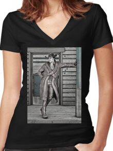 Cowboy Women's Fitted V-Neck T-Shirt