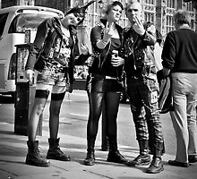 Punks in London: Punk Rockers by DonDavisUK