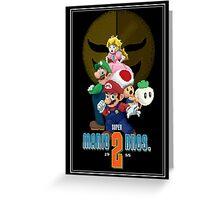Pixel Super Mario Bros. 2 Greeting Card