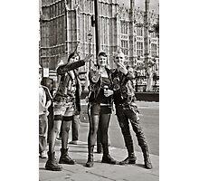 Punk Rockers in London, UK. Photographic Print