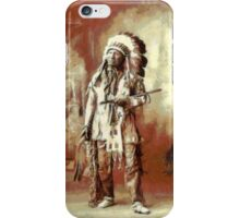 Chief American Horse, Sioux indian ca.1899 iPhone Case/Skin