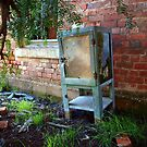 Old, abandoned icebox by Julie Sleeman