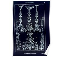 A Handbook Of Ornament With Three Hundred Plates Franz Sales Meyer 1896 0379 Metal Objects Renascence Candelabrum Inverted Poster